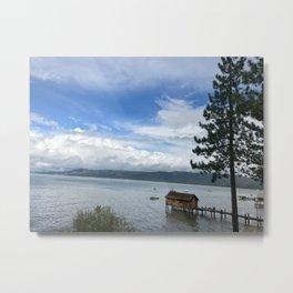 Cabin on the Lake Metal Print