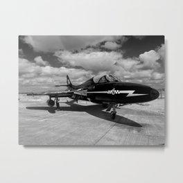 Hawker Hunter T7 aircraft Metal Print