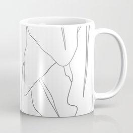 Minimal Line Drawing Leaves Coffee Mug
