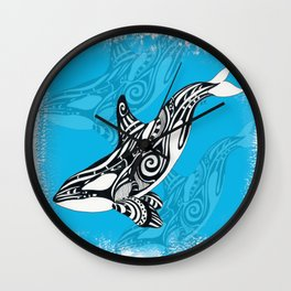 Orca Killer Whale Spirit Blue Wall Clock