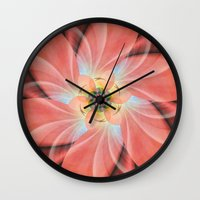 cherry blossom Wall Clocks featuring Cherry Blossom by Christine baessler