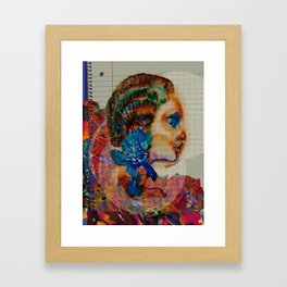 Homage to Schiaparelli couture Framed Art Print