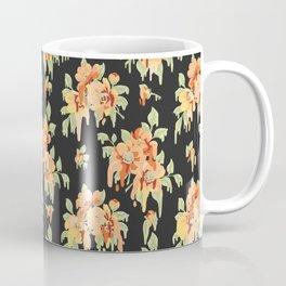 Peach Drippy Flowers Coffee Mug