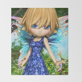 Lil Fairy Princess Throw Blanket