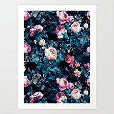 Roses Blue Art Print