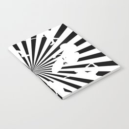 Sports figures in abstract background Notebook