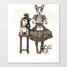 Kawaii and dog Tonton AL 2013 Canvas Print