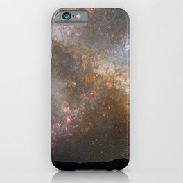 Hubble Space Telescope - Nighttime Sky View of Future Galaxy Merger: 3.85-3.9 Billion Years iPhone Case