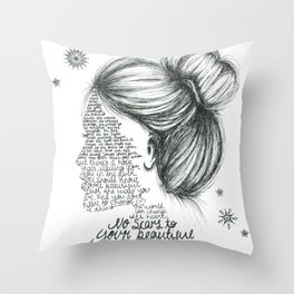 Scars to Your Beautiful (Alessia Cara) Throw Pillow
