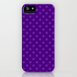 Lavender Violet on Indigo Violet Snowflakes iPhone Case