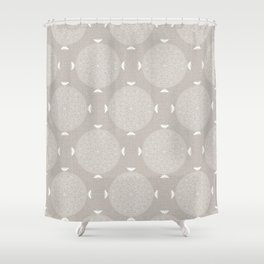 Foam Latte Rosette Lace Shower Curtain