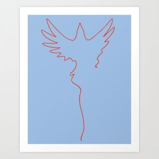Yarning To Be Free Art Print