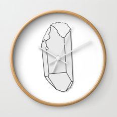 Clear Quartz Wall Clock