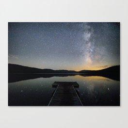 Milky Way in Truckee, CA Canvas Print