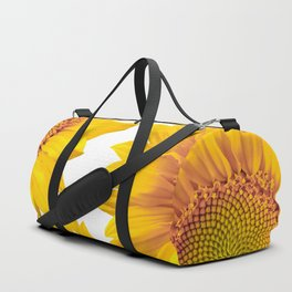 Large Yellow Sunflowers White Background #decor #society6 #buyart Duffle Bag