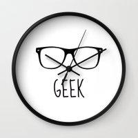 geek Wall Clocks featuring GEEK by colorstudio