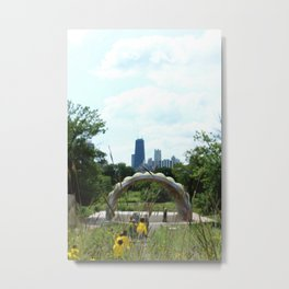 Garden View II Metal Print