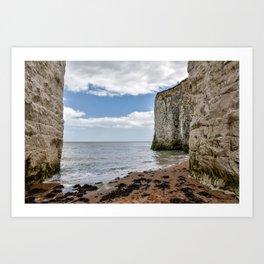 White Framed Cliffs - Botany Bay, England Art Print