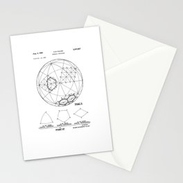 Buckminster Fuller 1961 Geodesic Structures Patent Stationery Cards