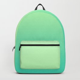 Gradient of light green and turquoise. Backpack