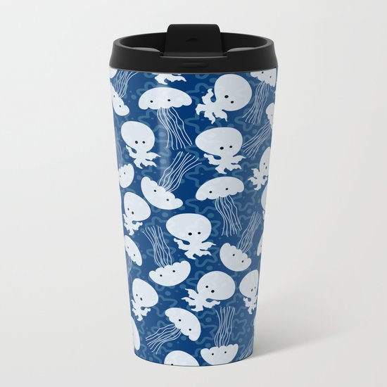 Sea pattern Metal Travel Mug