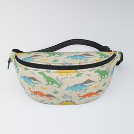 Jurassic Dinosaurs in Primary Colors Fanny Pack