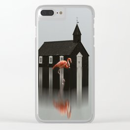 The Flamingo Clear iPhone Case