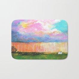 April Showers, Abstract Landscape Bath Mat