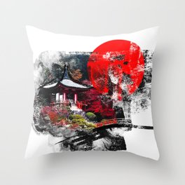 Abstract Kyoto Throw Pillow