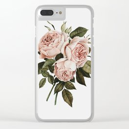 Three English Roses Clear iPhone Case