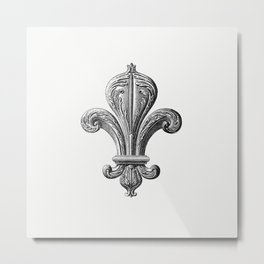 Fleur de lys of the board room from Artistic And Historical Guide At The Palais De Fontainebleau Etc Metal Print