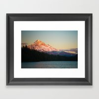 Mount Hood at Sunset, from Lost Lake Framed Art Print