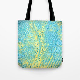 Yellow Fluid Effect Tote Bag