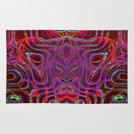 Colored cow ... Rug