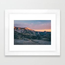 Sierra Nevada Sunset Framed Art Print