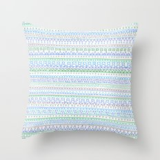 Blue Green Throw Pillow