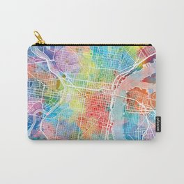 philadelphia map watercolor Carry-All Pouch