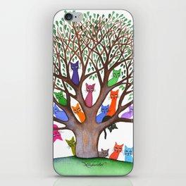 Topeka Whimsical Cats in Tree iPhone Skin