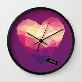 Vector Love 01 Wall Clock