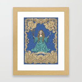 Vintage Astrology - Virgo Framed Art Print