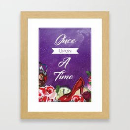 Cinder Cinderella themed art print - Lunar chronicles - once upon a time - bookish print - fairytale Framed Art Print