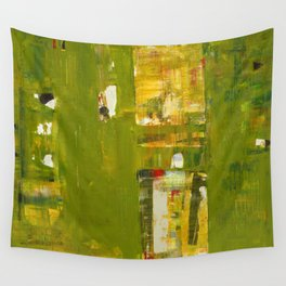 Iodine Green Abstract Art Modern Print Wall Tapestry