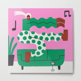 Dance Party for One Metal Print