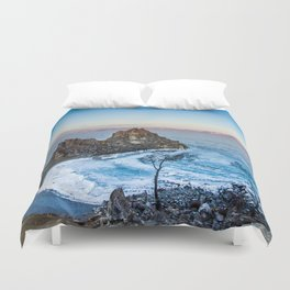 Shaman Rock on Olkhon Island, Baikal Duvet Cover
