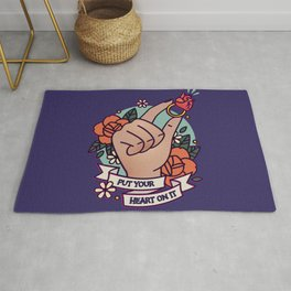 Put Your Heart On It Rug