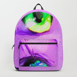 Anime Girl Eyes Pink Backpack