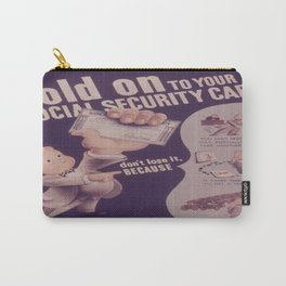 Vintage poster - Social Security Card Carry-All Pouch