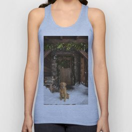 Dog and snow Unisex Tank Top