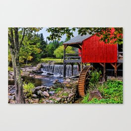 The Old Mill, Weston Vermont Canvas Print