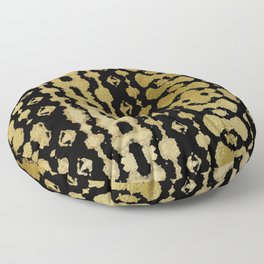 Golden Habatoi Shibori Floor Pillow